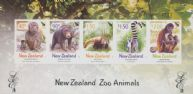 NZ SGMS2670 Chinese New Year (Year of the Monkey) NZ Zoo Animals Limited Edition miniature sheet